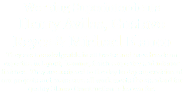 Working Superintendents Henry Avilas, Gustavo Reyes & Michael Blanco They are knowledgeable in all trades and have hands on expertise in layout, framing, finish carpentry and interior finishes. They are assigned to the day to day supervision of our projects and make sure all work meets the standard for quality Blanco Construction is known for.